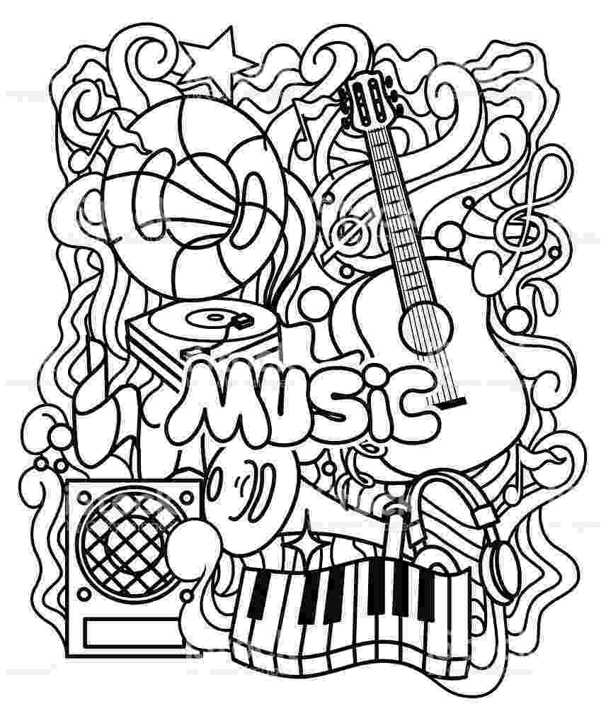 music coloring sheets music coloring pages getcoloringpagescom music sheets coloring