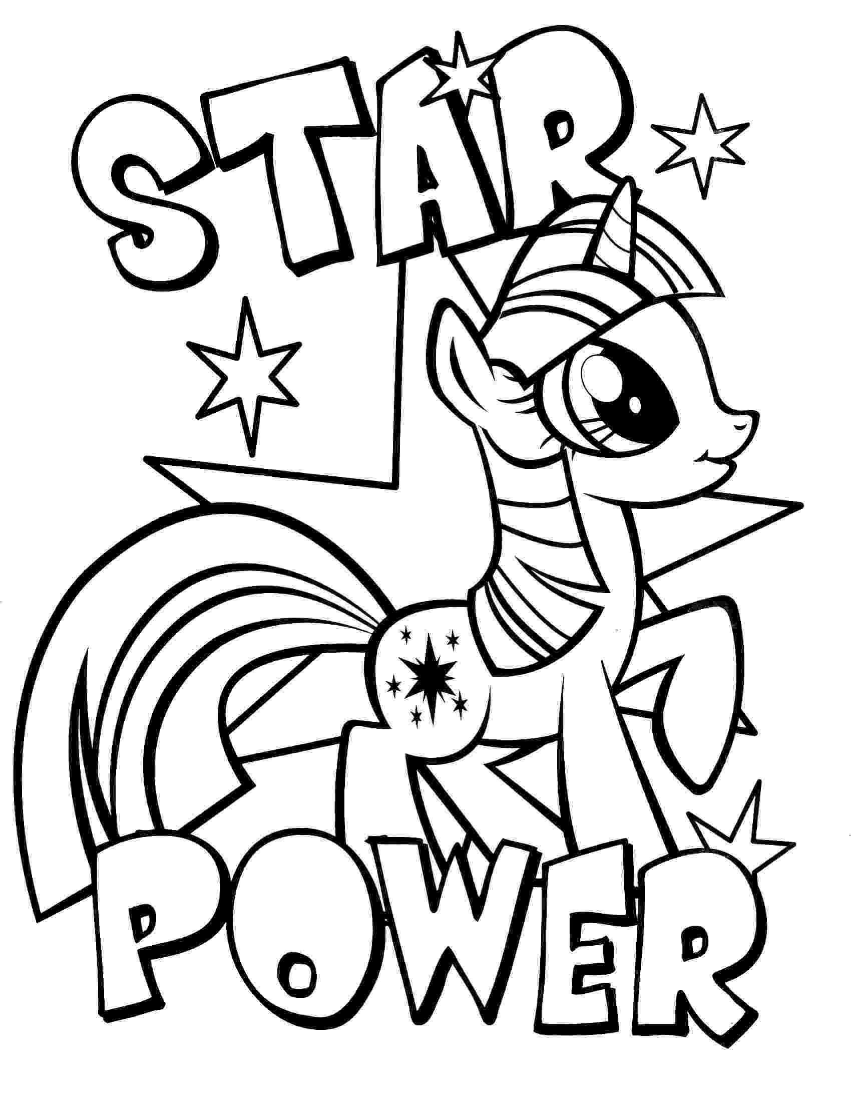 my little pony picture to color my little pony coloring pages getcoloringpagescom little picture to color my pony