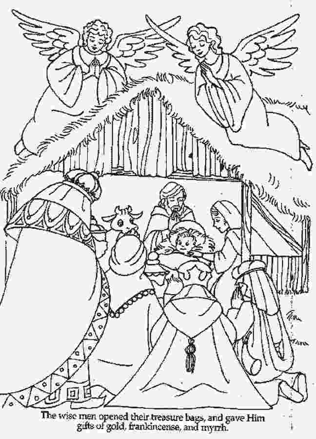 nativity scene coloring pages free christian coloring pages for kids pages nativity scene coloring