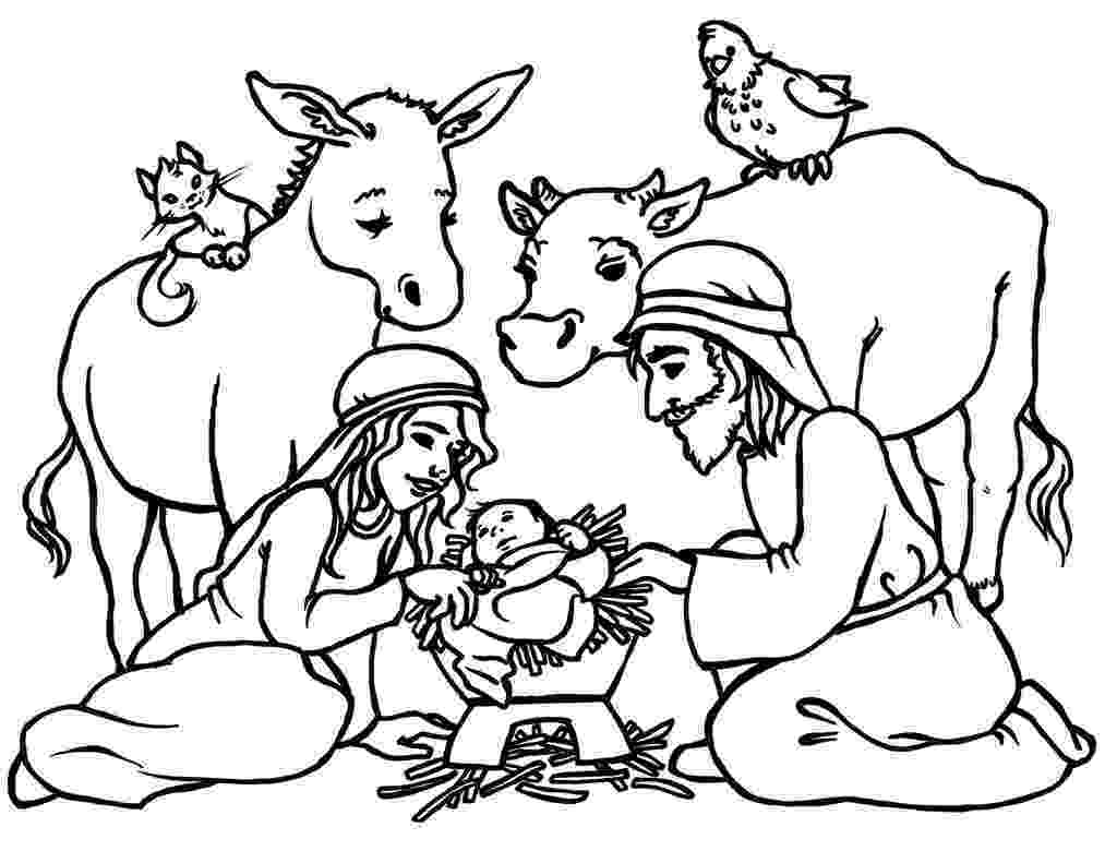 nativity scene coloring pages free printable nativity coloring pages for kids nativity pages scene coloring 1 1