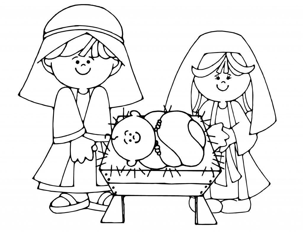 nativity scene coloring pages nativity coloring pages getcoloringpagescom pages scene coloring nativity