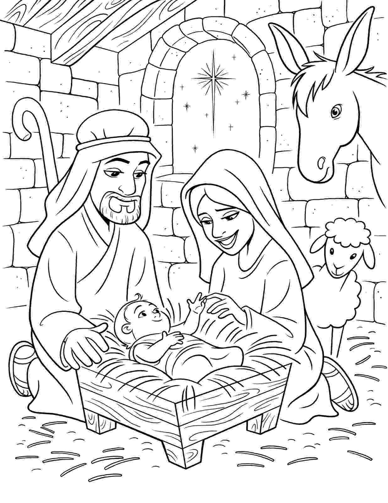 nativity scene coloring pages the birth of christ nativity pages coloring scene