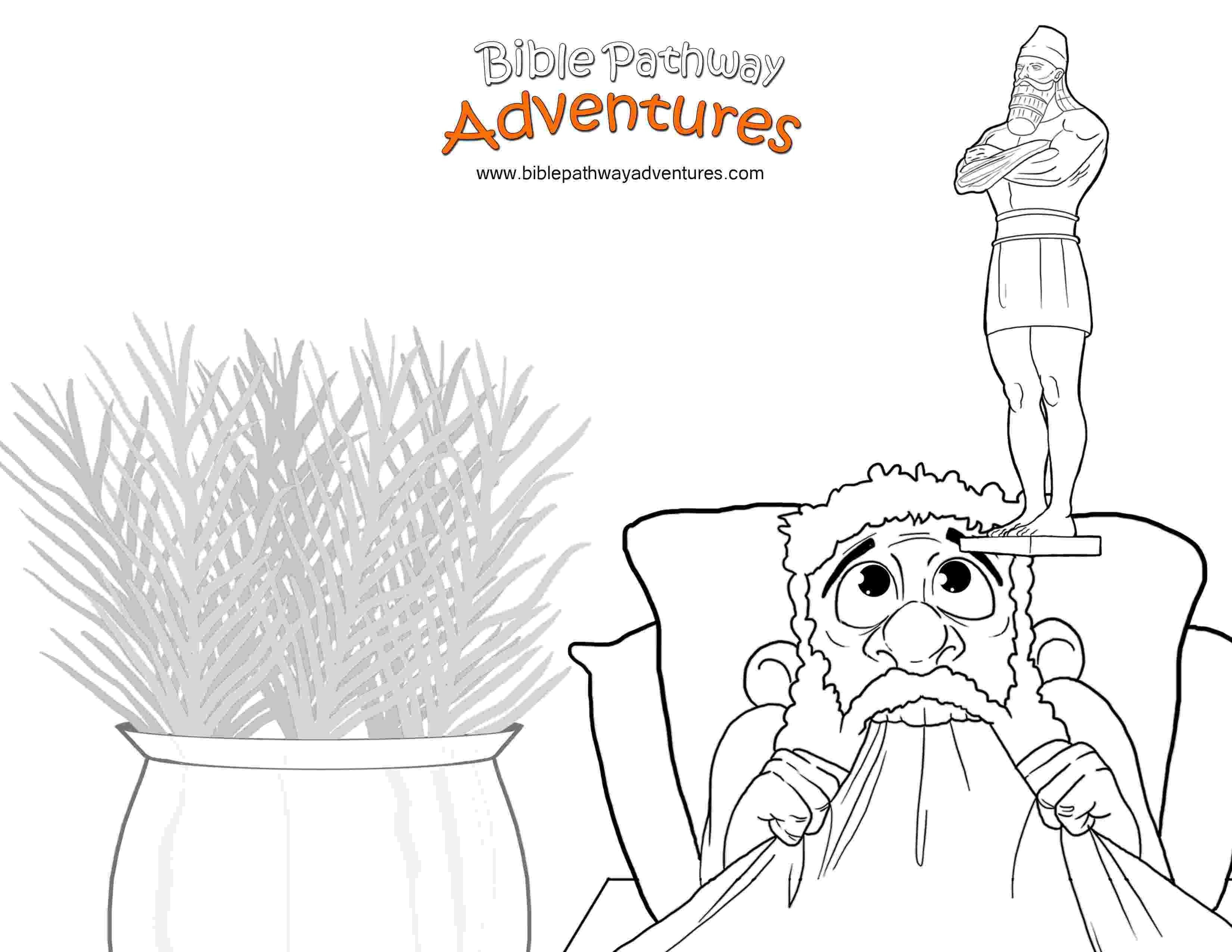 nebuchadnezzar coloring page nebuchadnezzars statue bible pathway adventures page coloring nebuchadnezzar