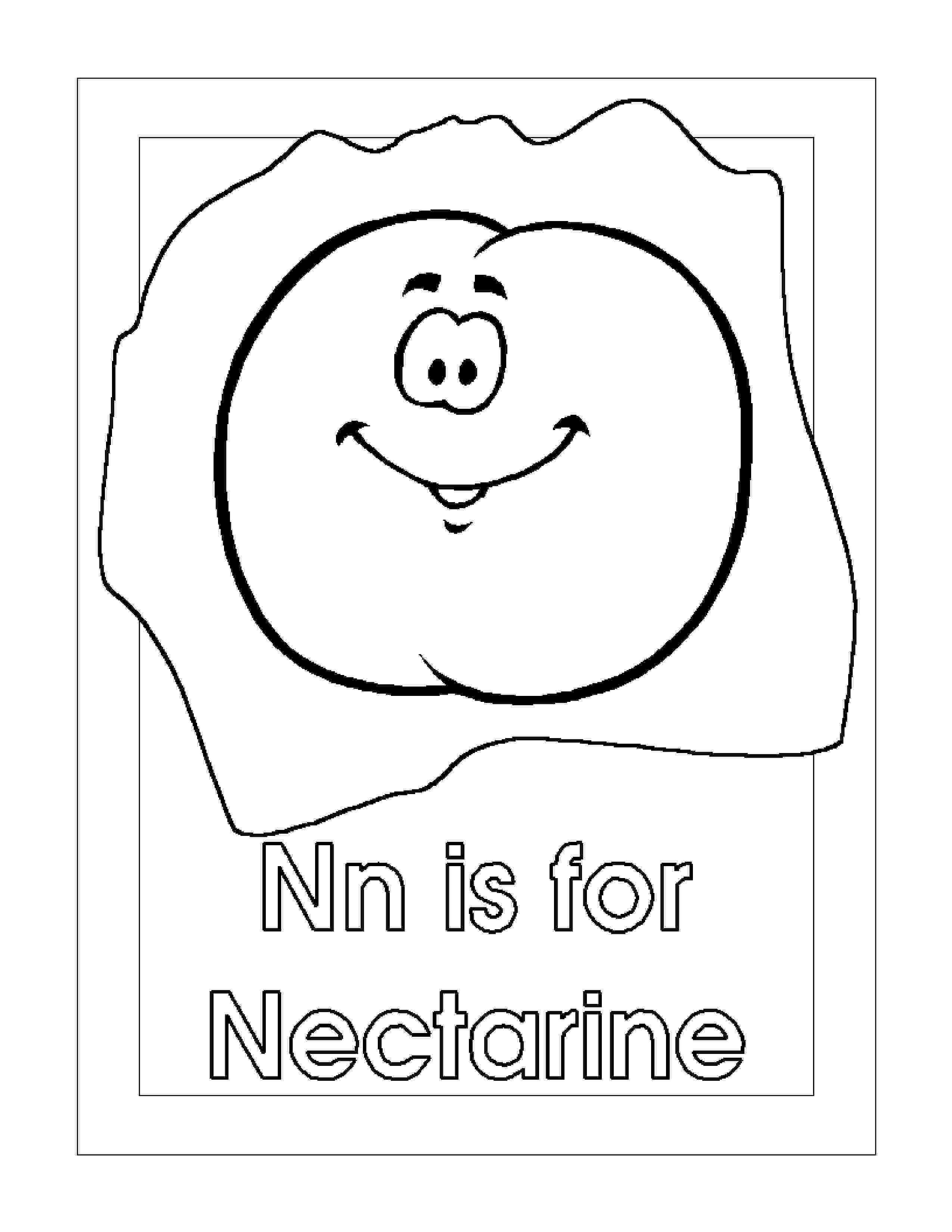nectarine color nectarine coloring pages printable free peach nectarine color