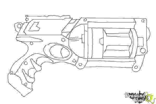 nerf gun colouring pages how to draw a nerf gun drawingnow colouring pages nerf gun