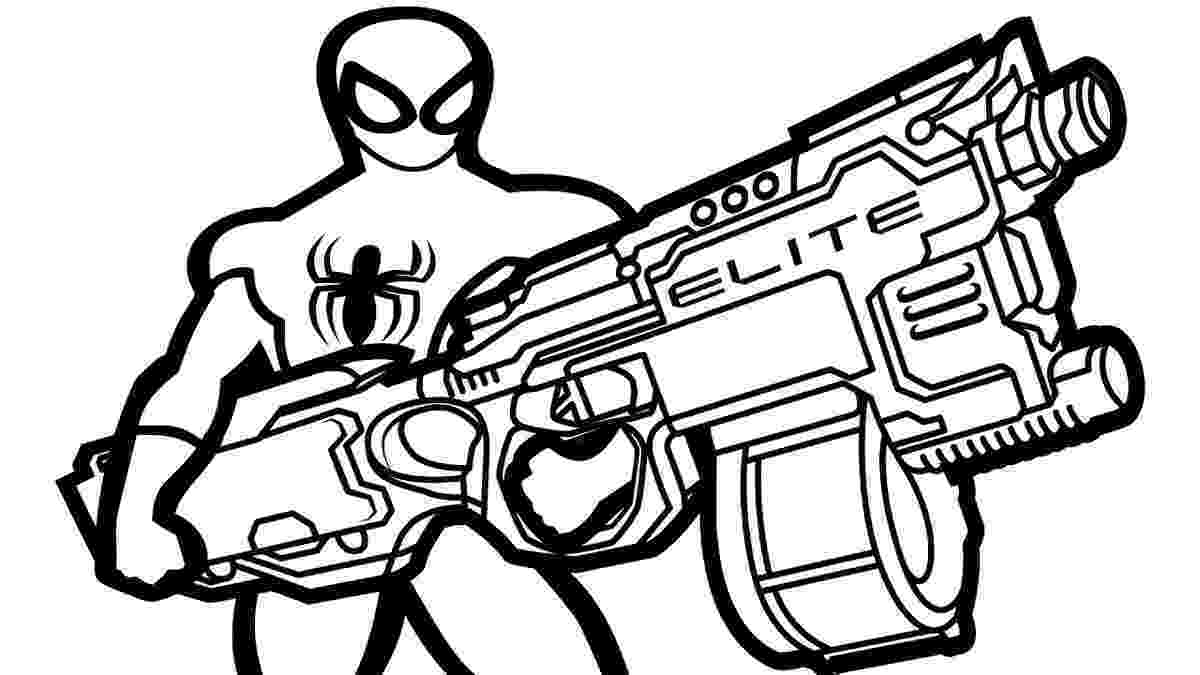 nerf gun colouring pages nerf gun spiderman themed coloring page pages gun colouring nerf