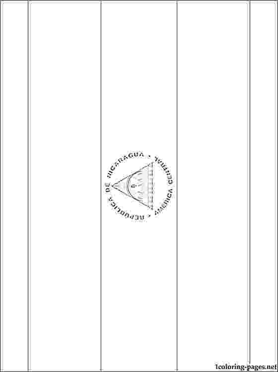 nicaragua flag printable colouring book of flags central and south america printable nicaragua flag
