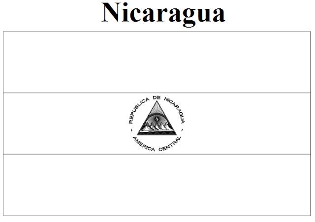 nicaragua flag printable mexico flag colouring page nicaragua printable flag