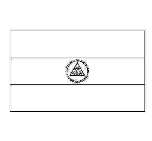 nicaragua flag printable nicaragua coloring page coloringcrewcom nicaragua printable flag