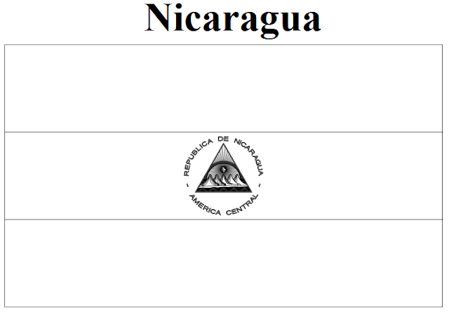 nicaragua flag printable nicaragua flag coloring page coloring pages nicaragua flag printable