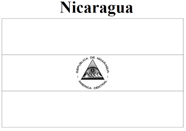 nicaragua flag printable nicaragua flag coloring page printable flag nicaragua
