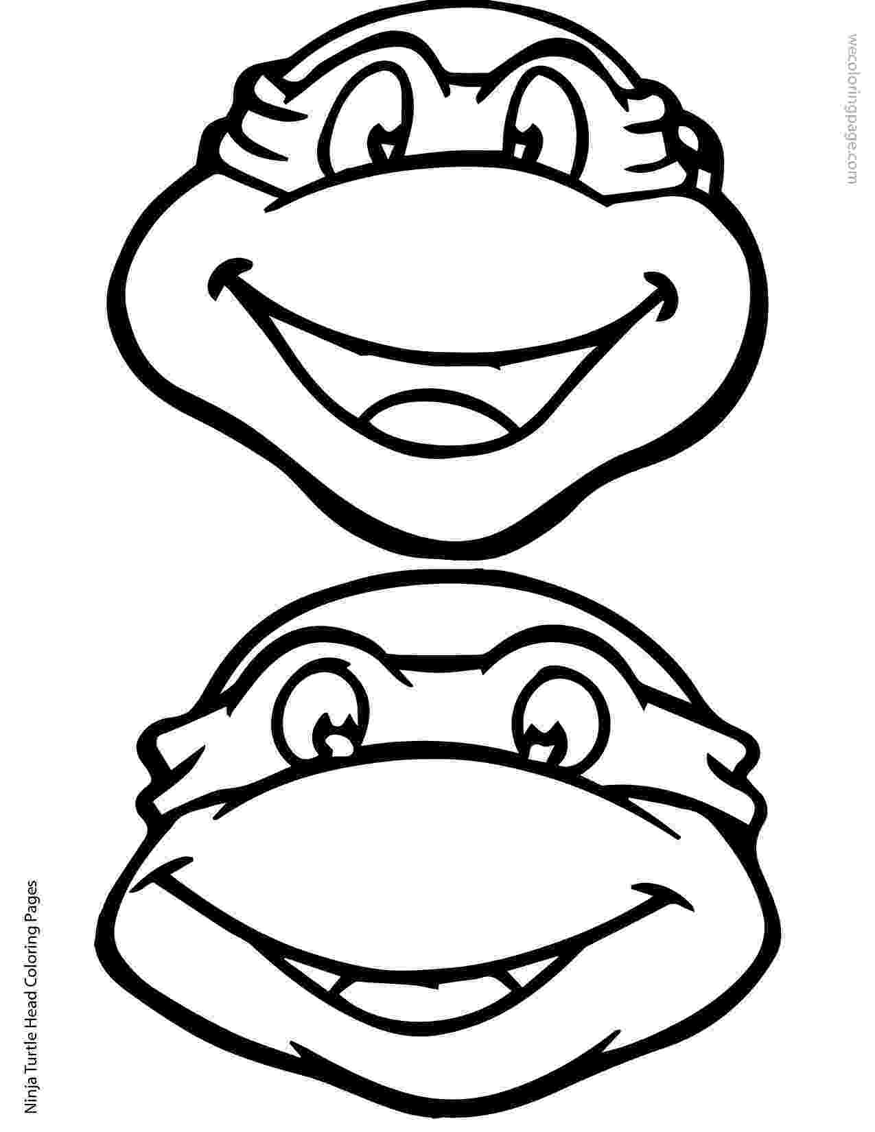 ninja turtle printables ninja turtle head coloring page 02 01 elias pinterest printables turtle ninja