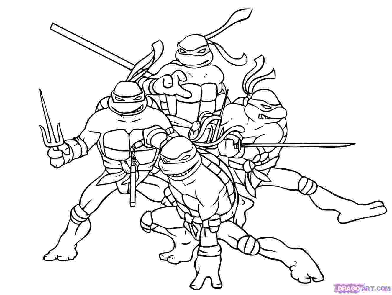 ninja turtles color teenage mutant ninja turtles coloring pages best color ninja turtles