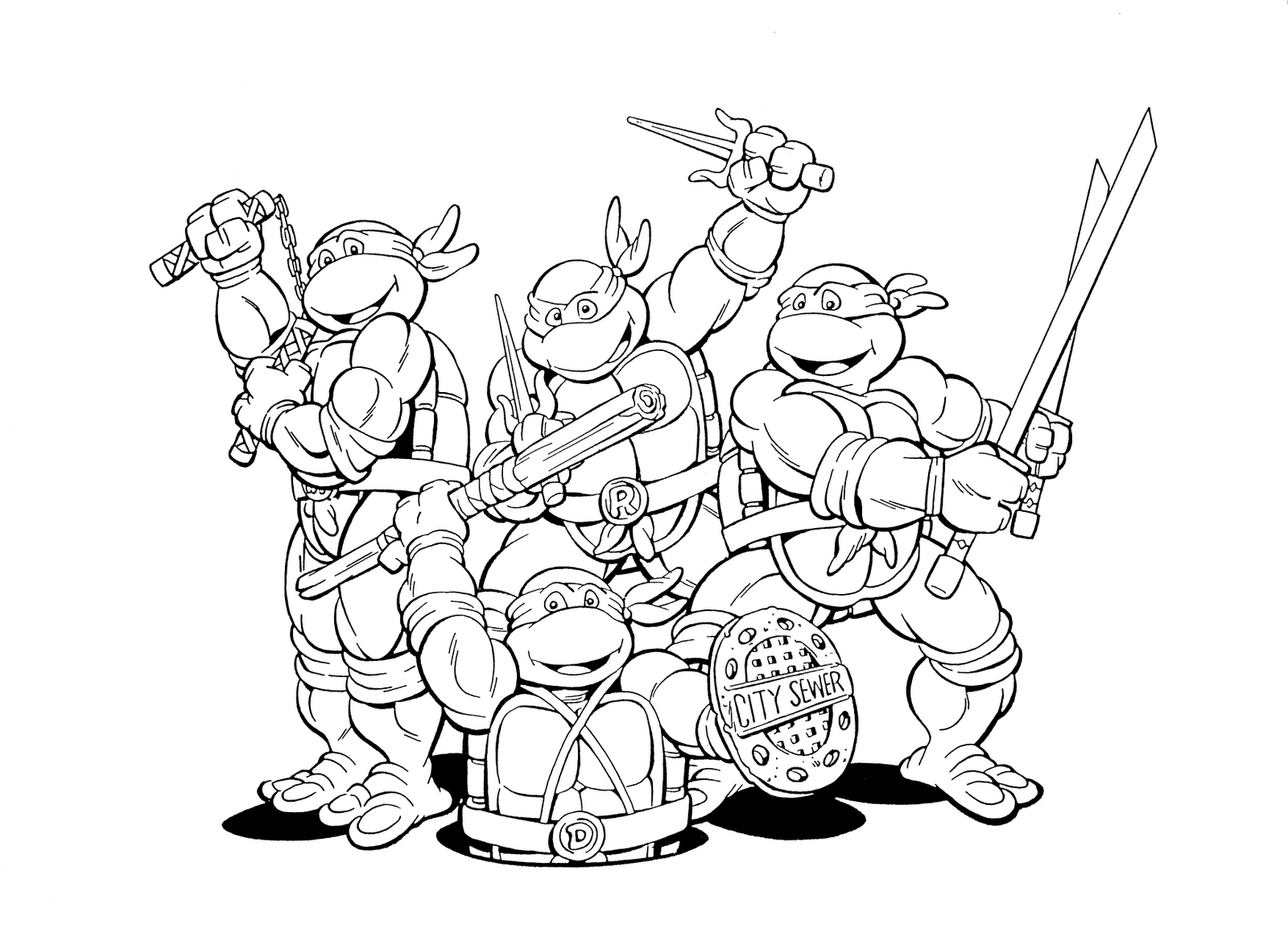 ninja turtles color teenage mutant ninja turtles coloring pages best ninja turtles color