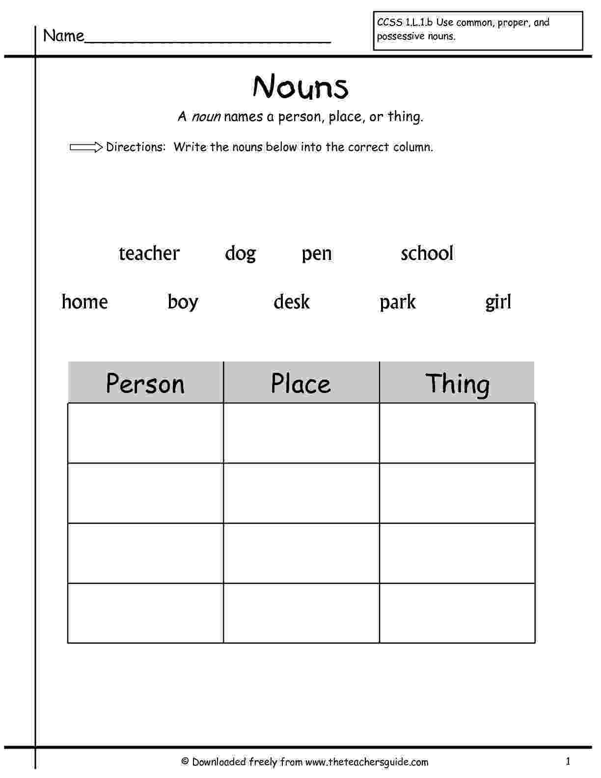 noun worksheets for grade 1 with answers possessive nouns grade 1 with worksheets answers for noun