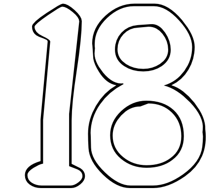 number 16 template 18 dr odd template 16 number