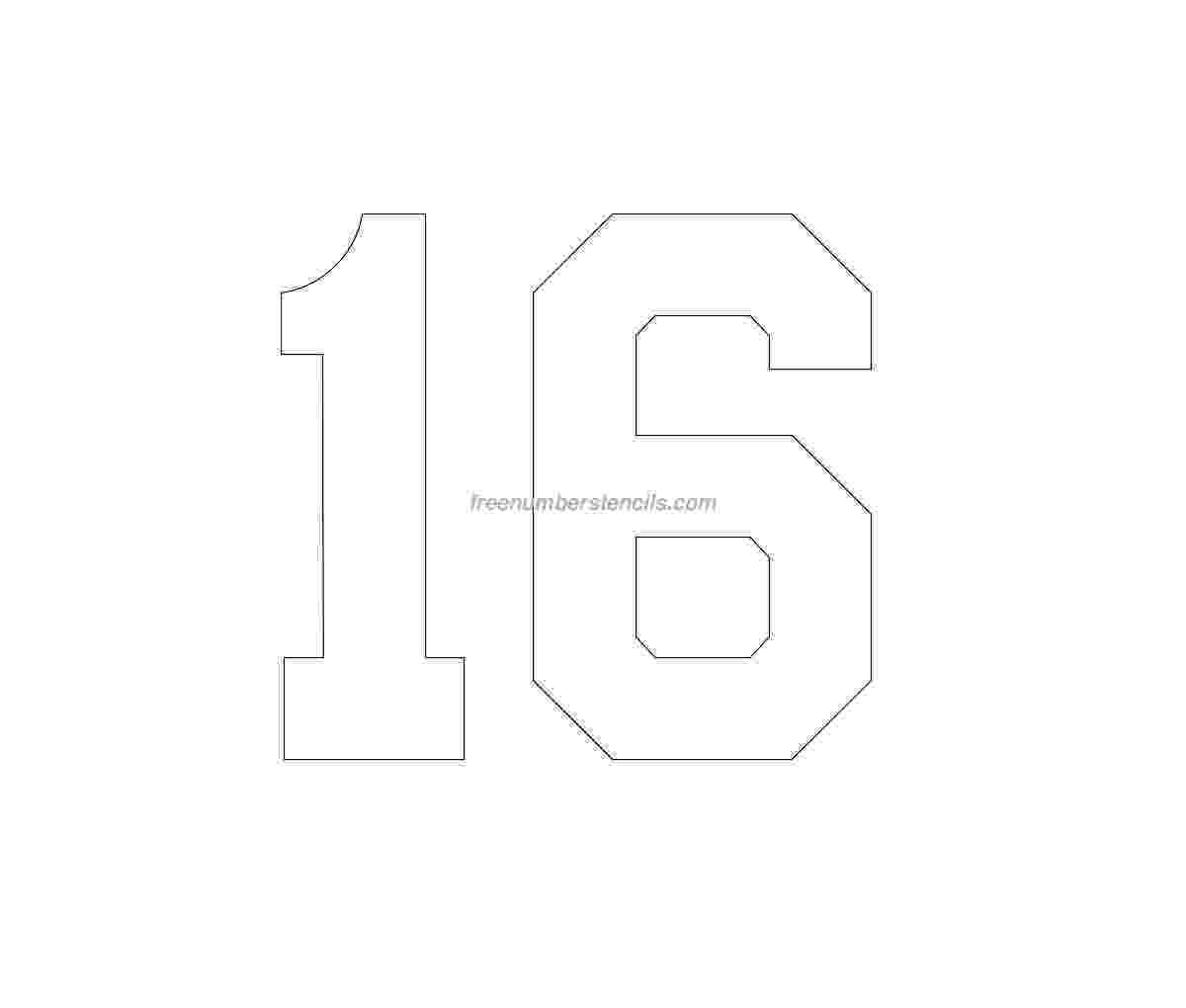 number 16 template free free printable football jersey template download template number 16