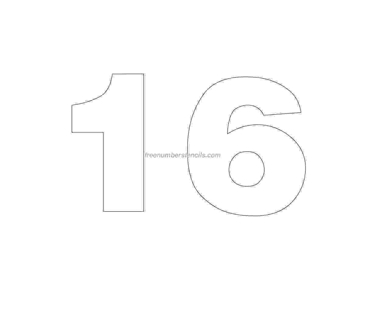 number 16 template helvetica number stencils archives freenumberstencilscom template number 16