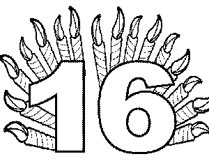 number 16 template number 16 coloring activities coloring pages template number 16