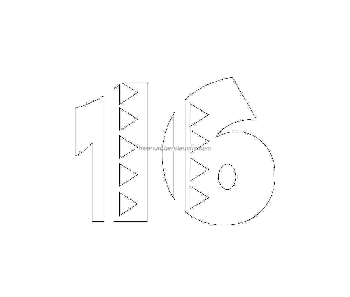 number 16 template number 16 template gallery 16 number template