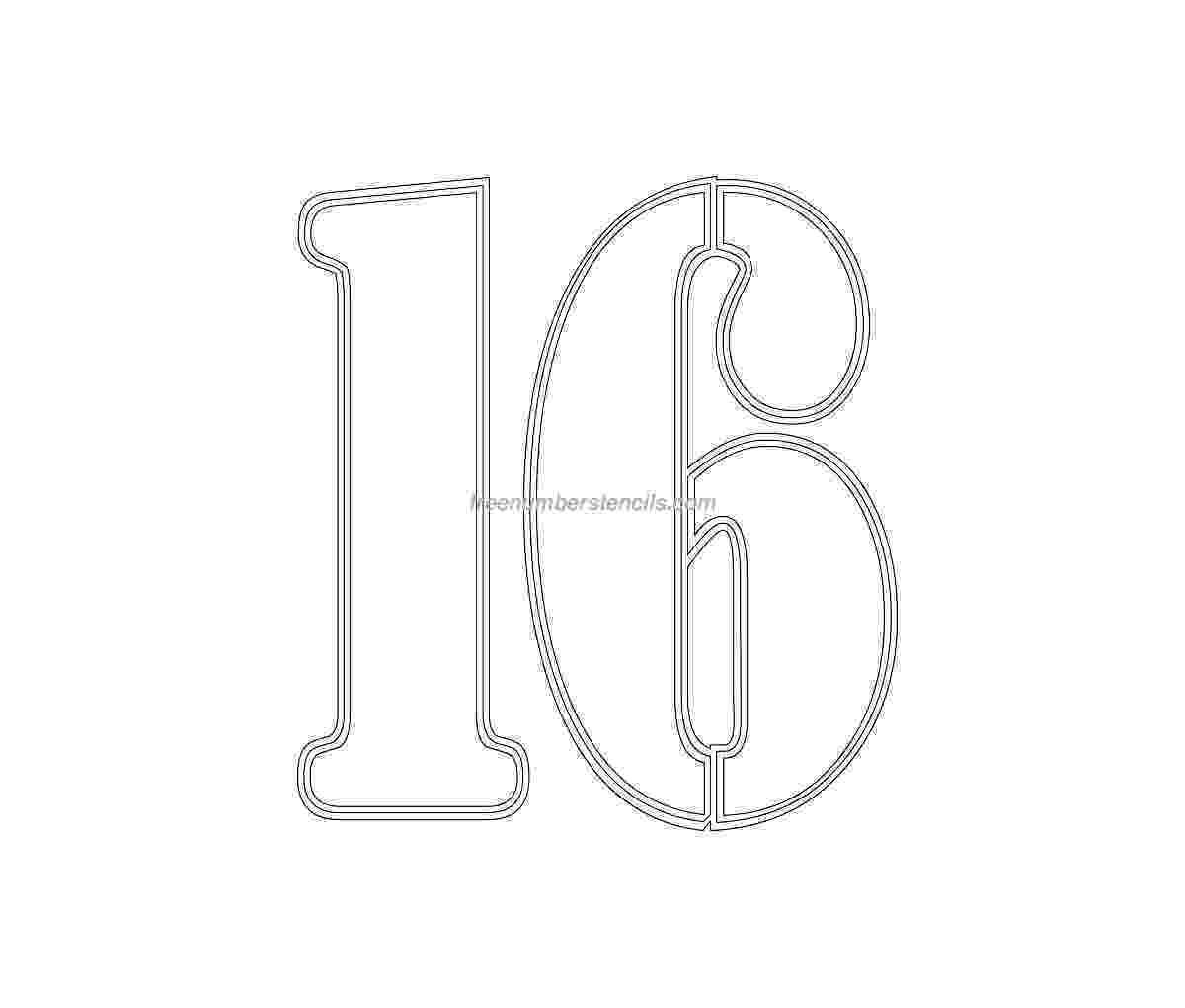 number 16 template number 16 template gallery number 16 template