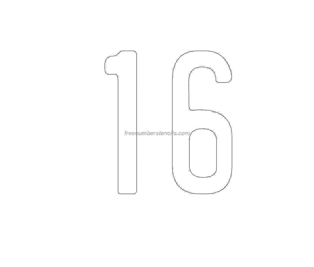 number 16 template number 16 template gallery number 16 template 1 1