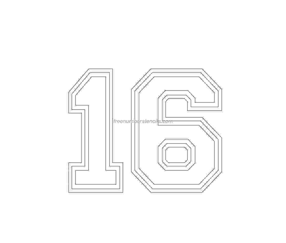 number 16 template number 16 template gallery template 16 number 1 1