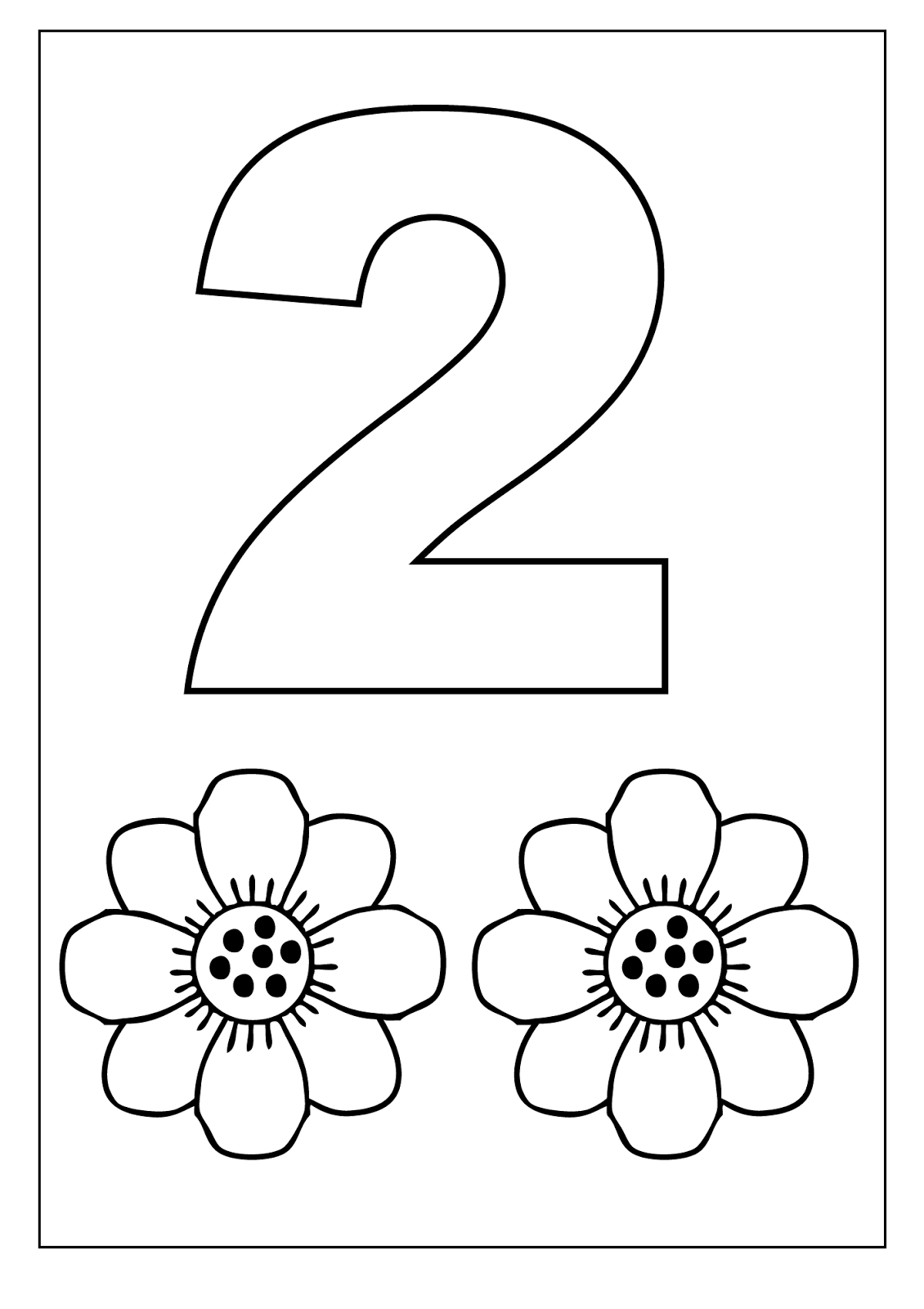 number 2 coloring sheet number 2 coloring page getcoloringpagescom coloring number sheet 2