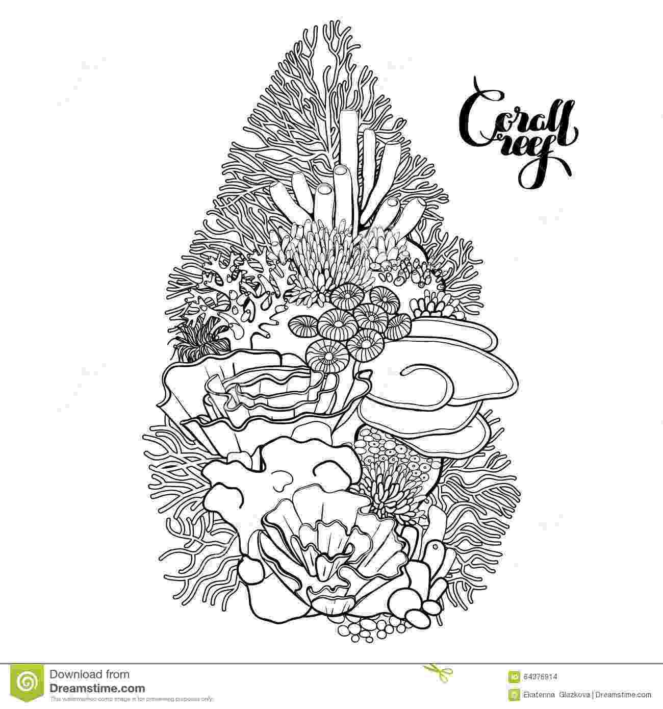 ocean plants coloring pages ocean plants coloring pages adults coral colors coral coloring ocean pages plants