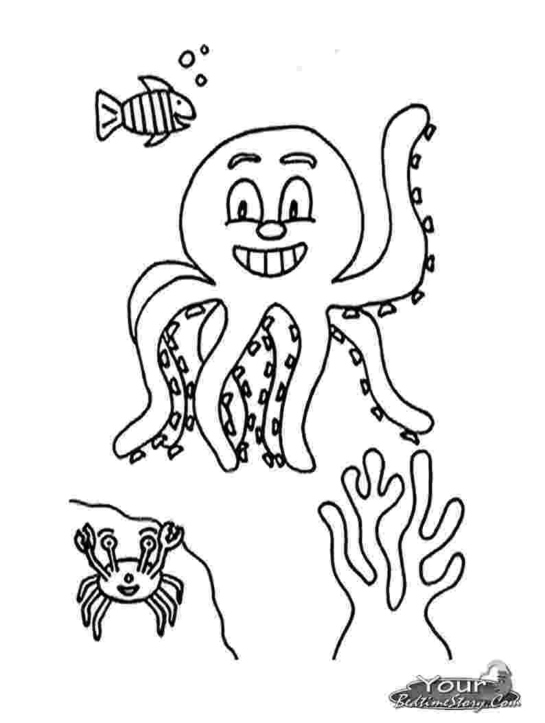 octopus coloring sheet octopus coloring page seamarine sheet octopus coloring