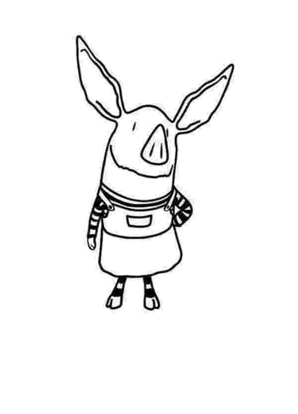 olivia the pig coloring pages olivia the pig playing airplane coloring page netart the olivia pig coloring pages