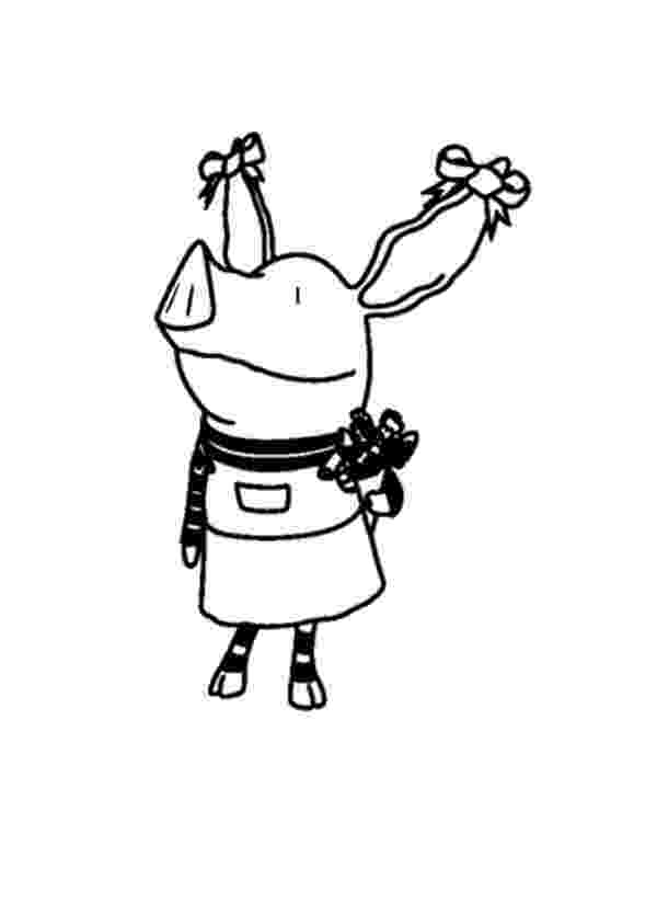 olivia the pig coloring pages olivia the pig talking to a butterfly coloring page netart the pages pig olivia coloring