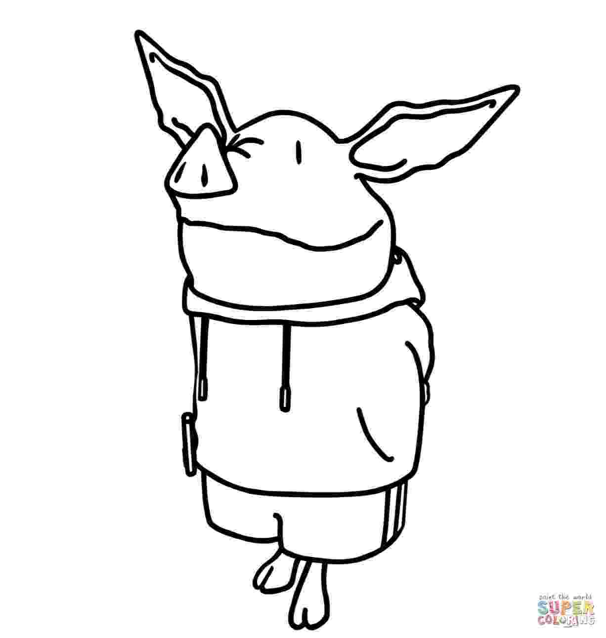 olivia the pig coloring pages olivia the pig talking to his fahter coloring page netart pages coloring olivia pig the