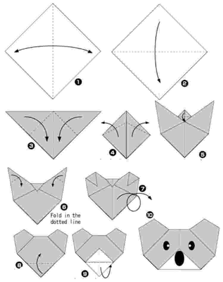 origami dog face instructions origami dog face folding instructions 4 steps how to origami dog face instructions