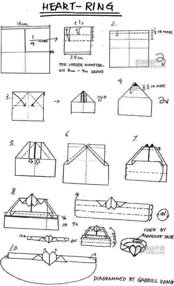 origami heart instructions printable heart ring origami embroidery origami origami instructions printable heart