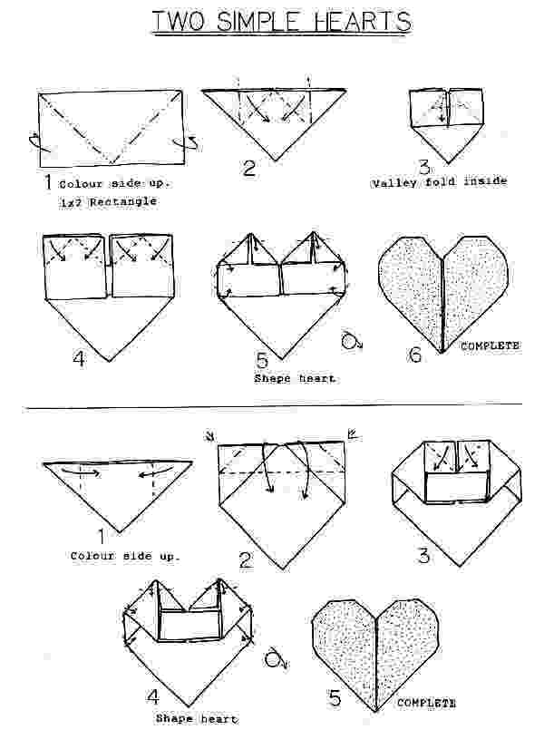 origami heart instructions printable origami fancy heart instructions printable heart origami