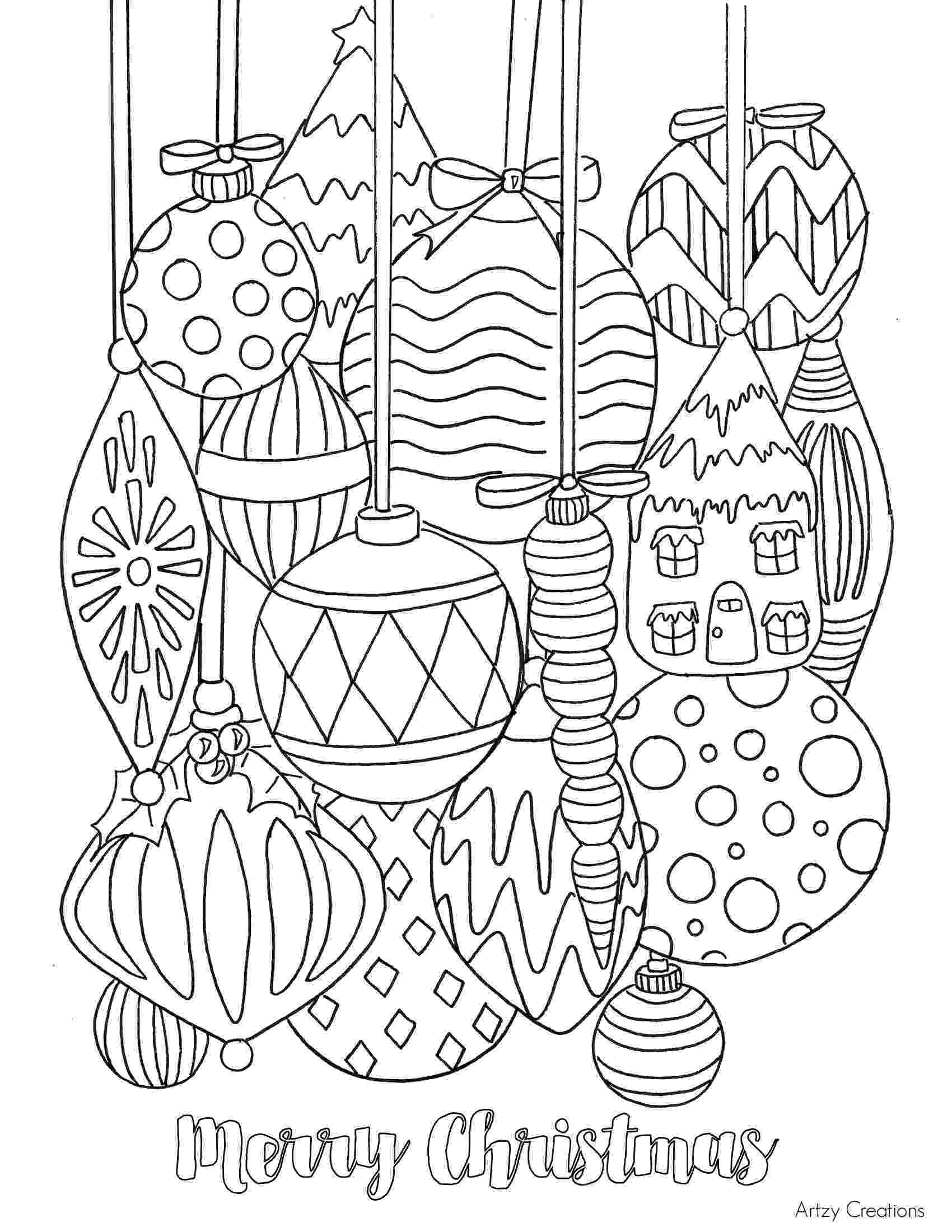 ornaments coloring pages christmas coloring pages pages coloring ornaments