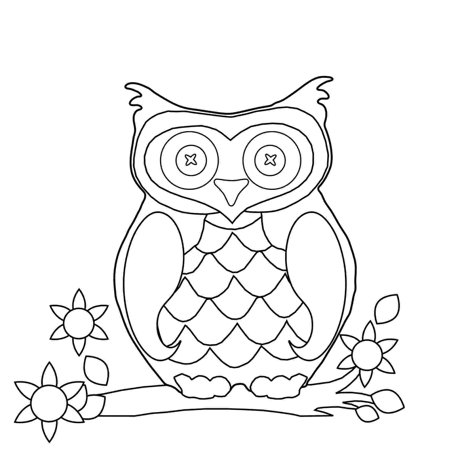 owl color page baby owls coloring sheet to print color page owl
