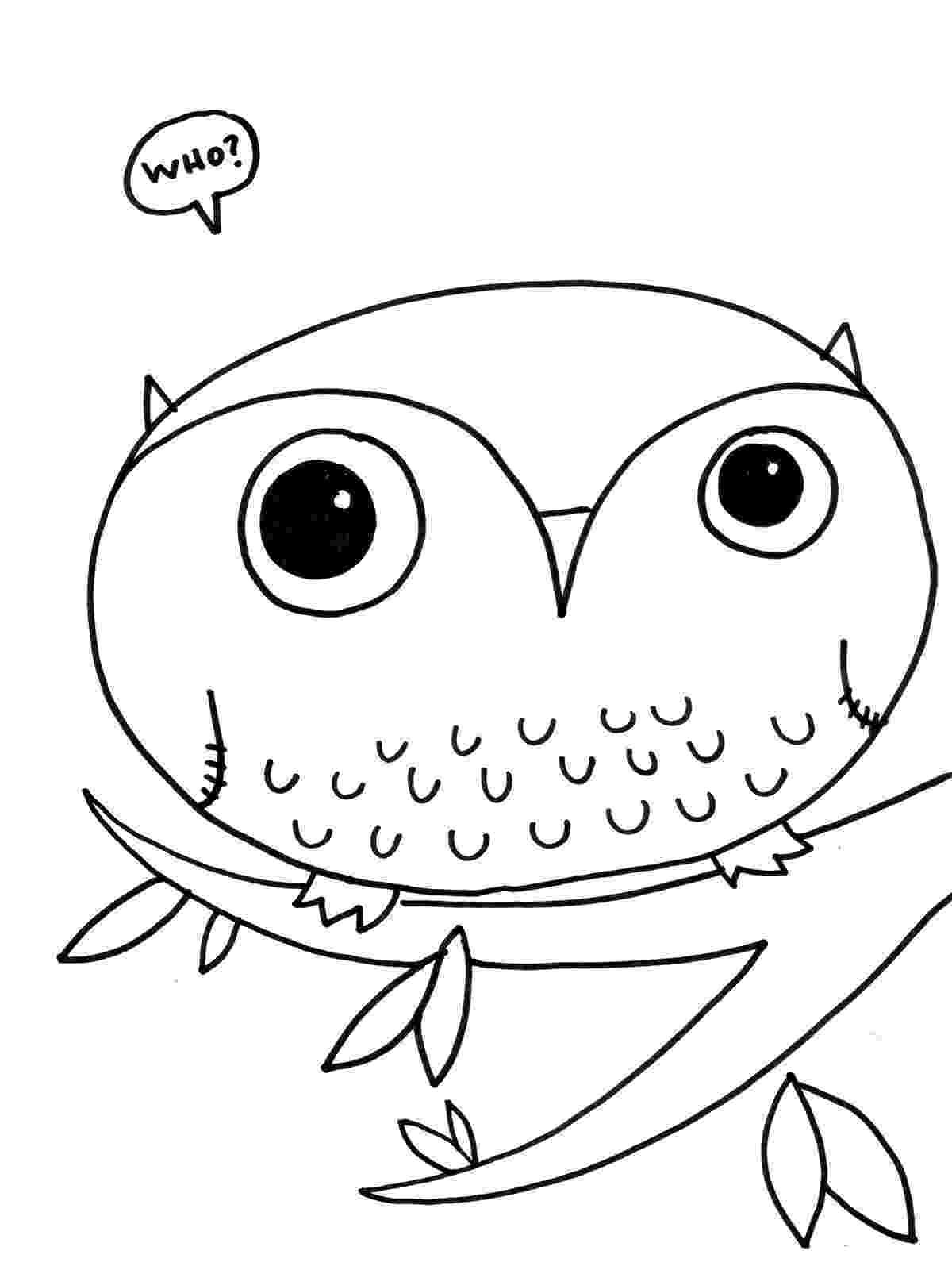 owl printable cute printable owl coloring pages for kids owl printable