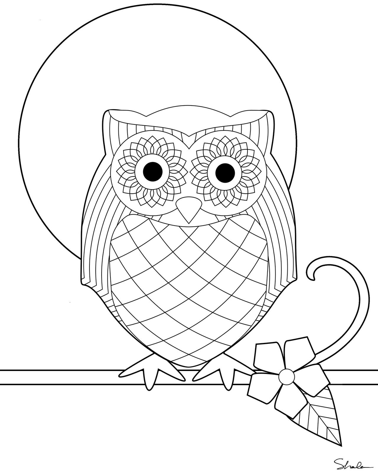owl printable free printable owl coloring pages for kids owl printable