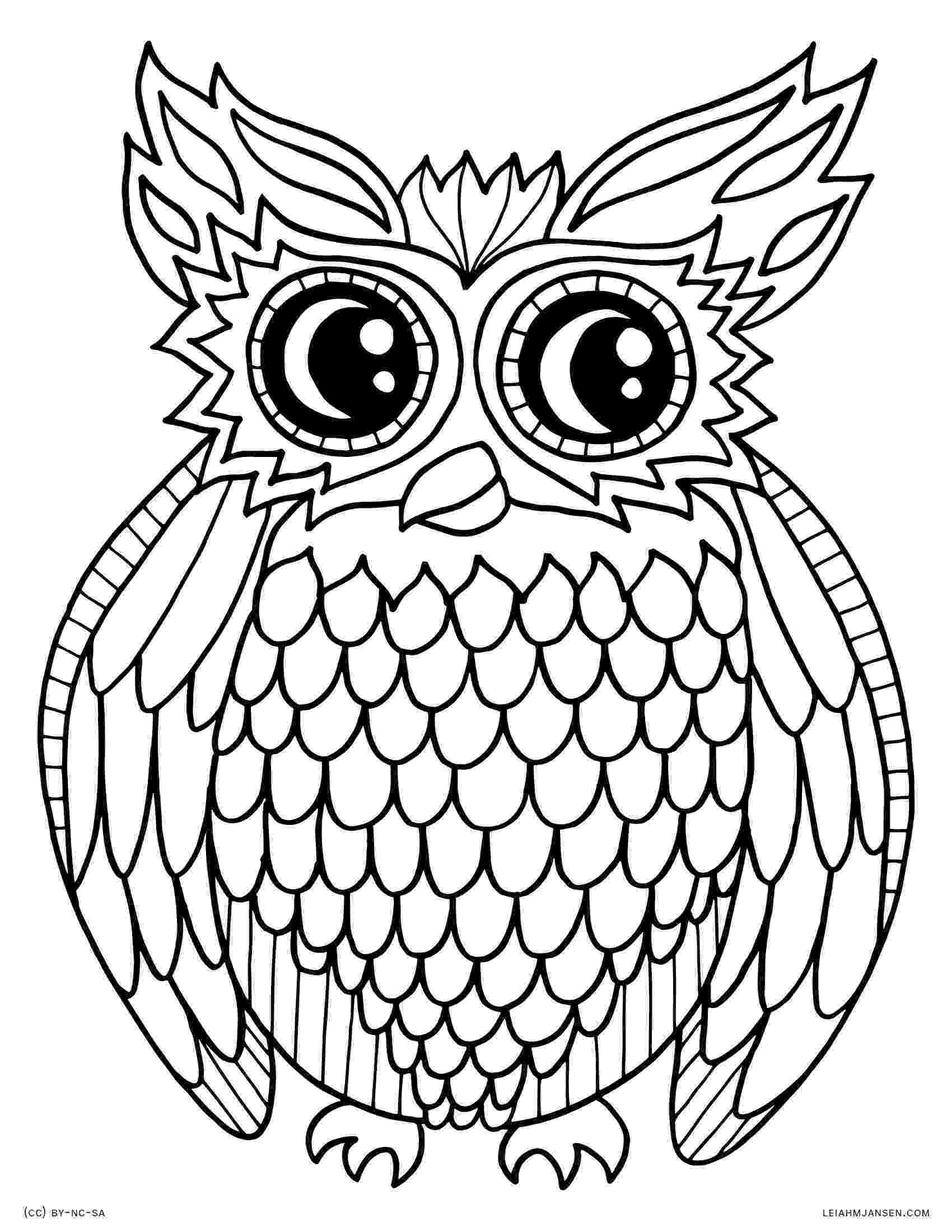 owl printable printable animal owl coloring sheets for kindergarten printable owl