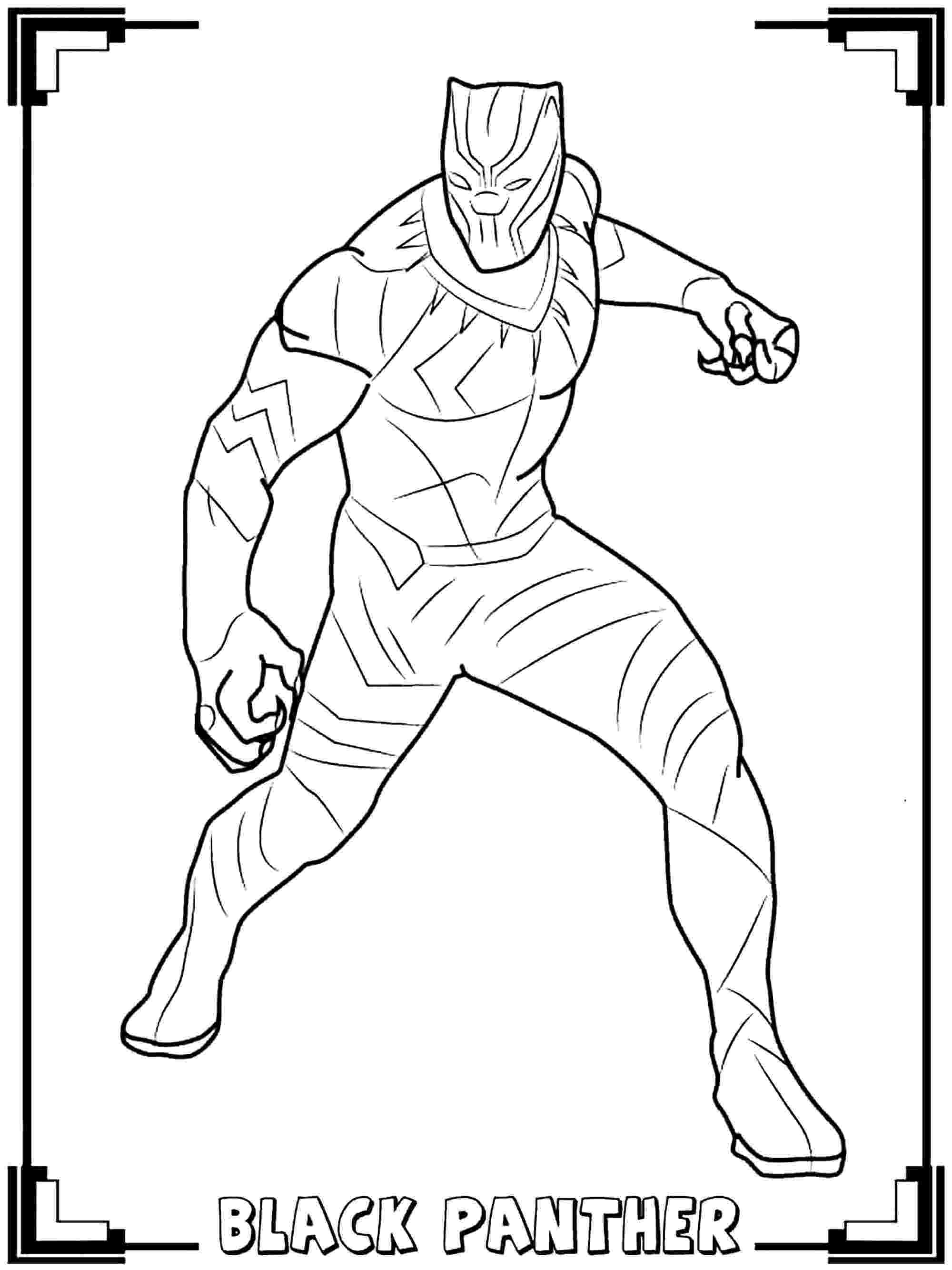 panther coloring page how to draw black panther black panther 2018 drawing panther coloring page