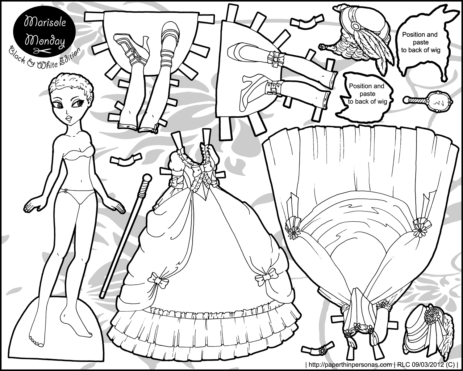 paper dress up doll four princess coloring pages to print dress doll up paper dress