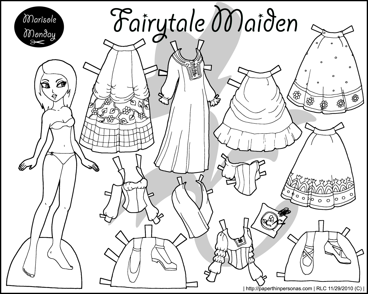 paper dress up doll pixie puck prudence and constance in black and white doll dress paper up