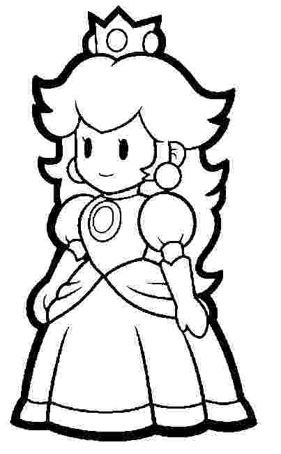paper princess peach mario coloring pages  black and white super mario princess peach paper