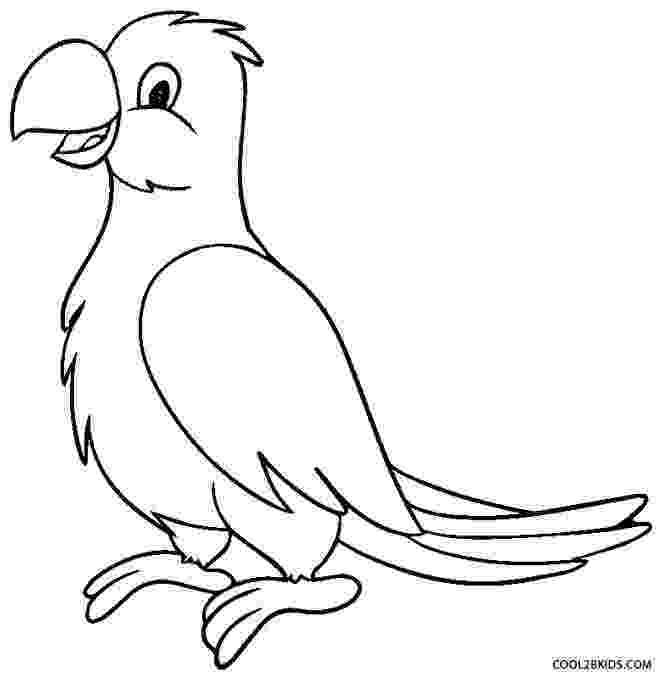 parrot printable parrot coloring pages getcoloringpagescom printable parrot