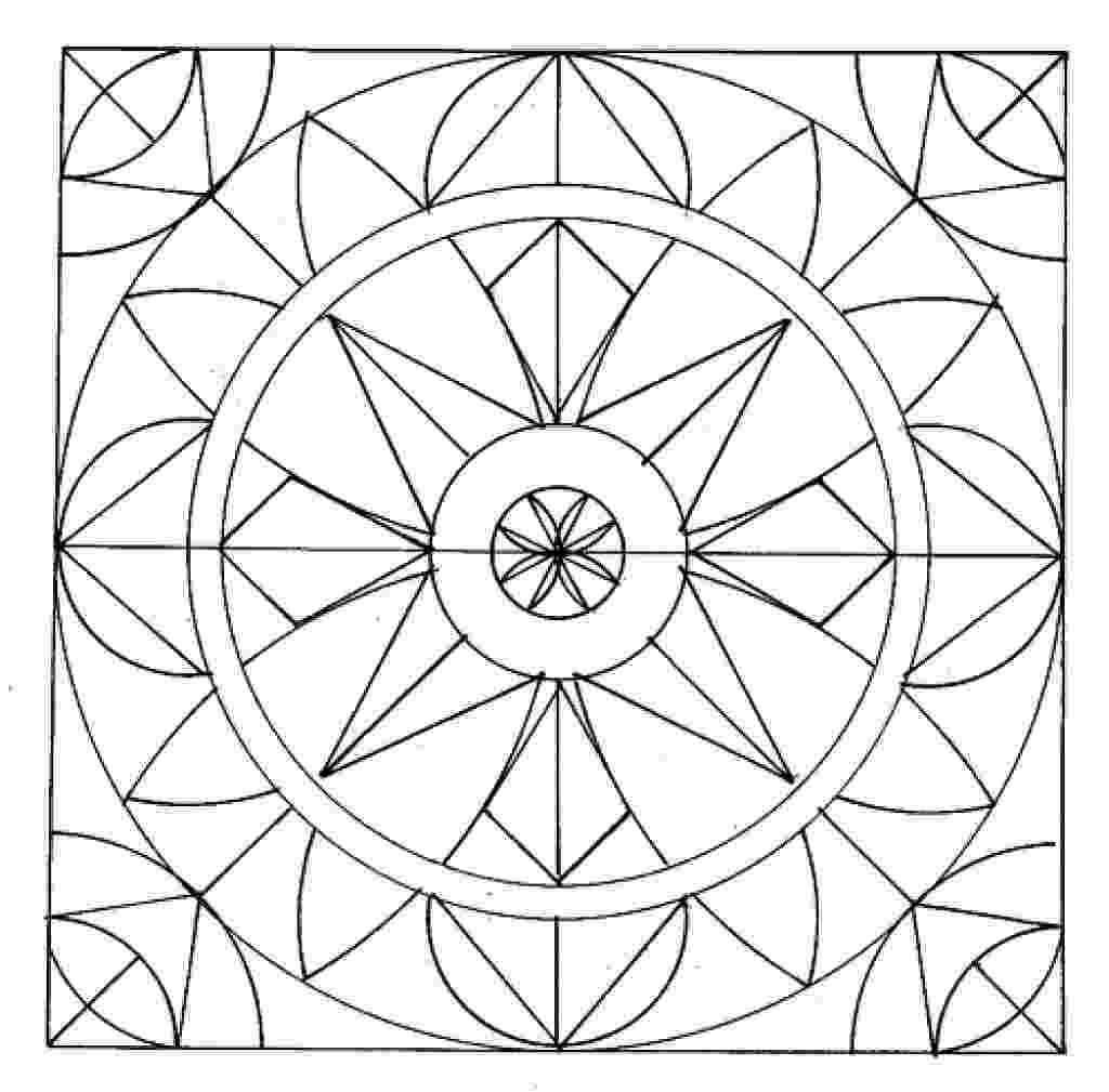 pattern to colour easy geometric abstract coloring page for kids geometric to colour pattern