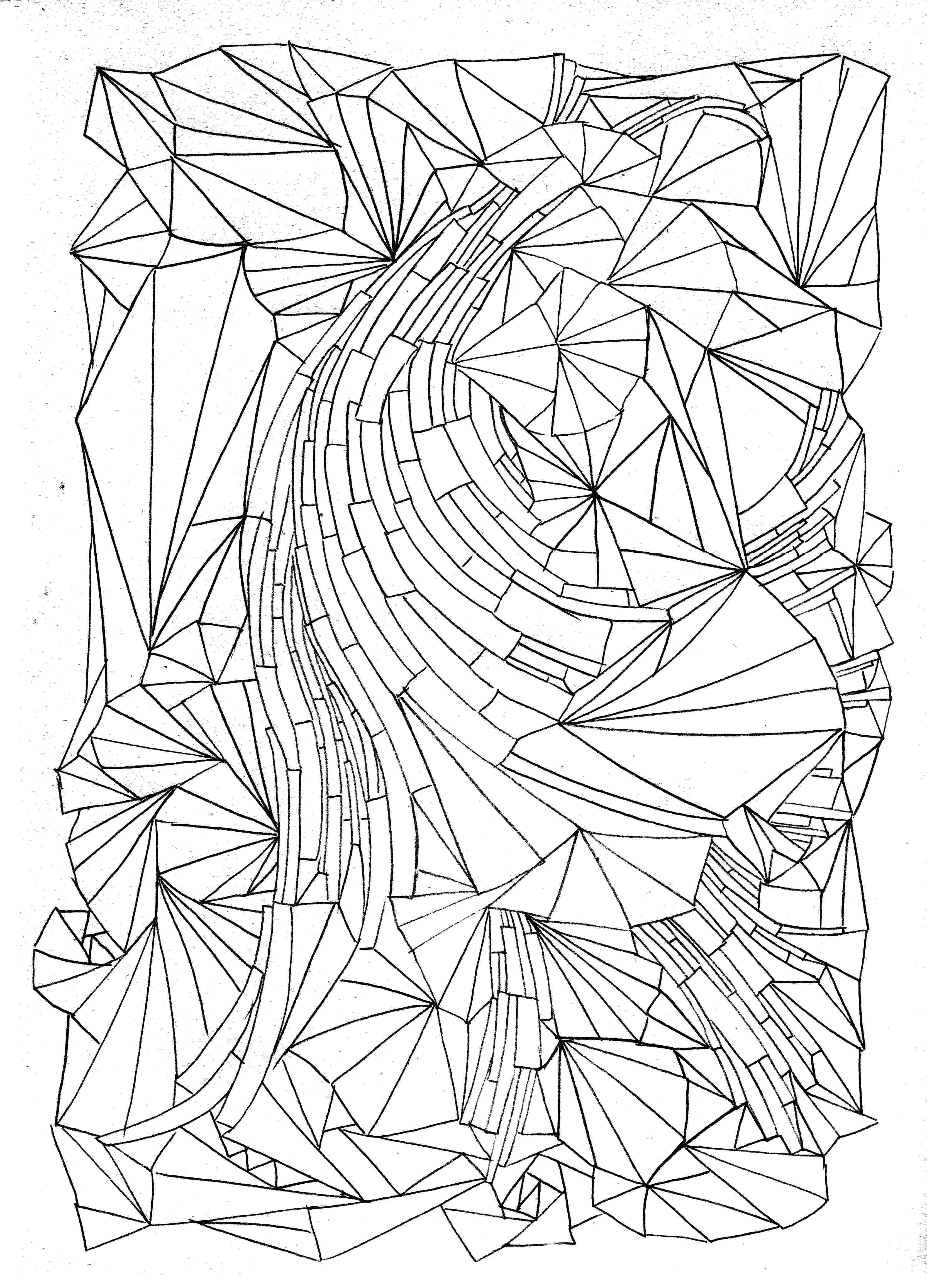 pattern to colour free printable geometric coloring pages for adults colour to pattern