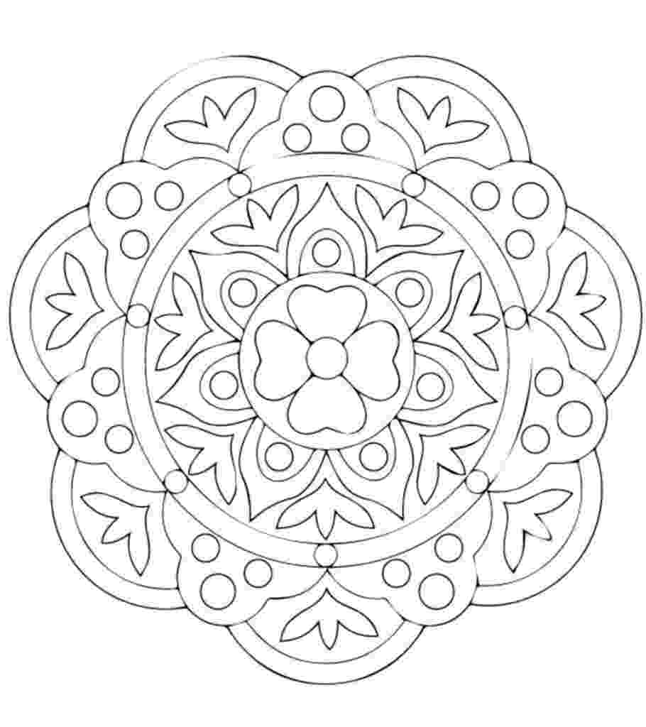 pattern to colour free printable rangoli coloring pages for your little one colour pattern to