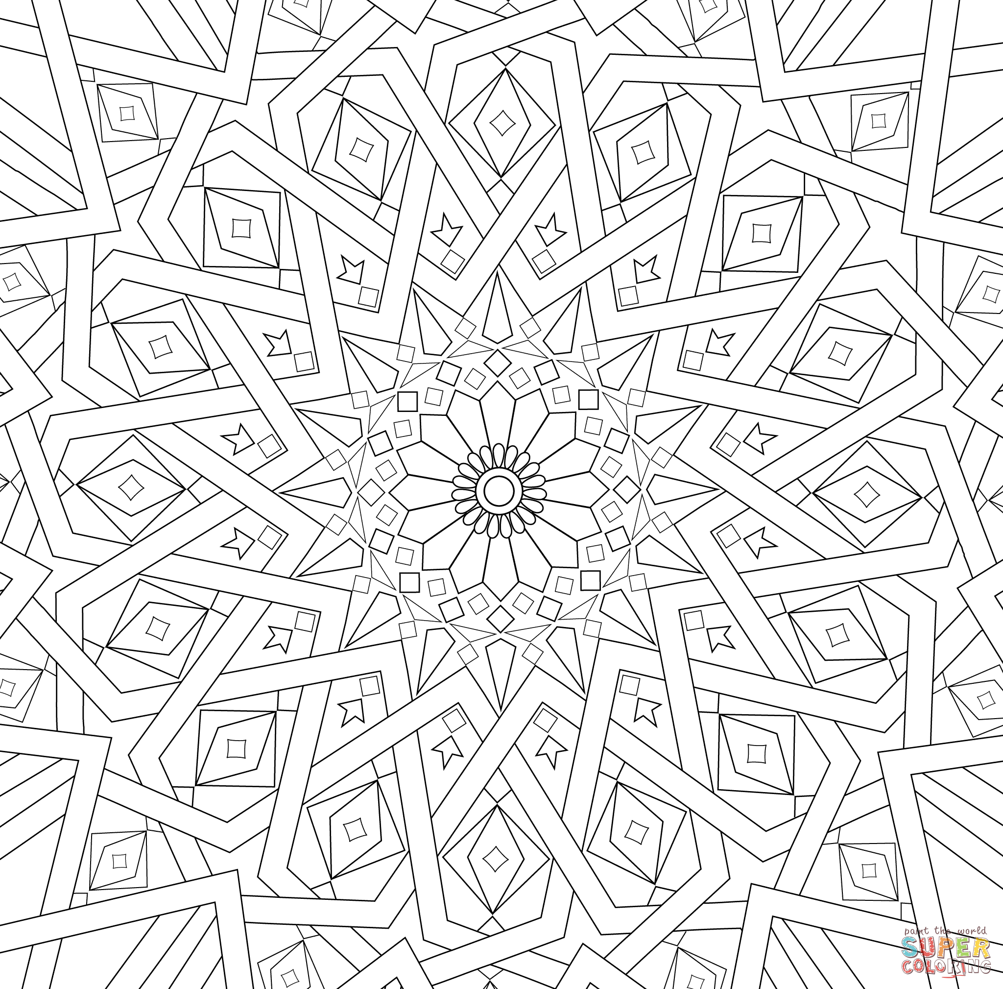 pattern to colour mosaic patterns coloring pages coloring home to colour pattern